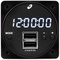 MD93 digital clock with dual USB power supply (TSO certified)