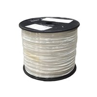 Aviation cable shielded AWG24 white (100m Roll)