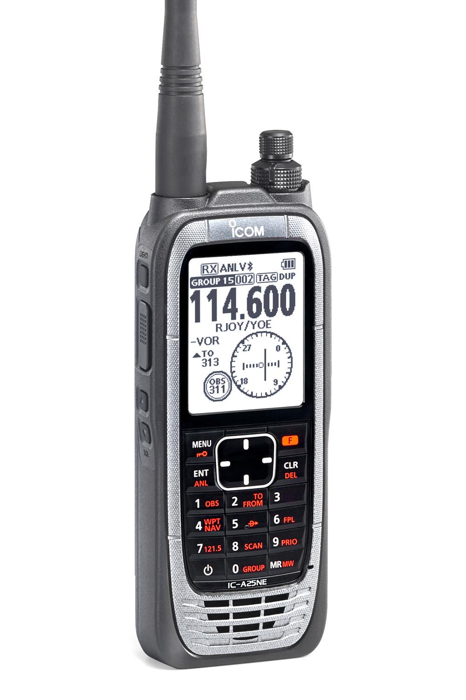 Handheld aviation radio navigator ICOM IC-A25NE 8 33kHz (COM/NAV/GPS)
