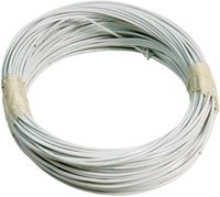 Aviation Cable TEFZEL AWG22 shielded white (10m Roll)