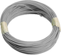 Aerial cable TEFZEL AWG22 grey (10m roll)