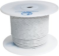 Aeronautical cable TEFZEL AWG22 two-core shielded white (500m roll)