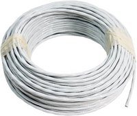 Aeronautical cable TEFZEL AWG14 two-core shielded white (10m roll)
